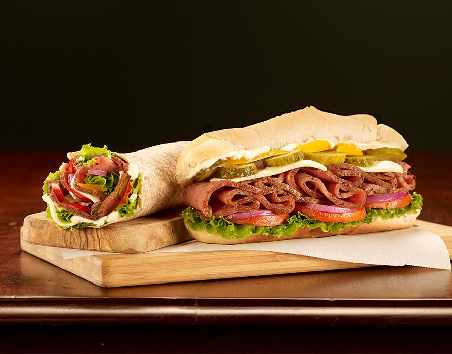 Hamilton's Pastrami Hero Sandwich