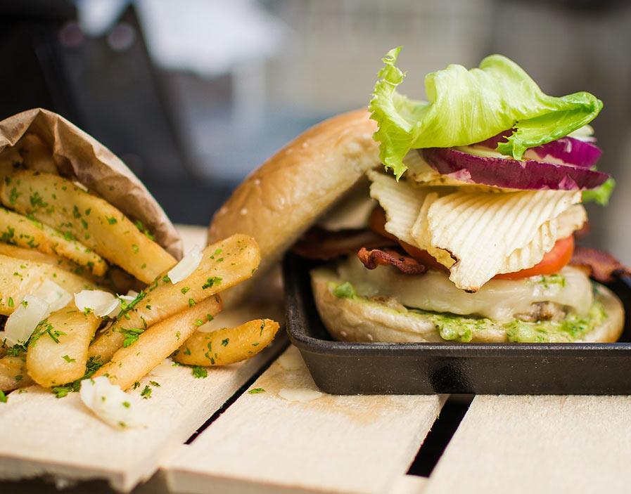 Alexa's Summer Grilled Chicken Burger