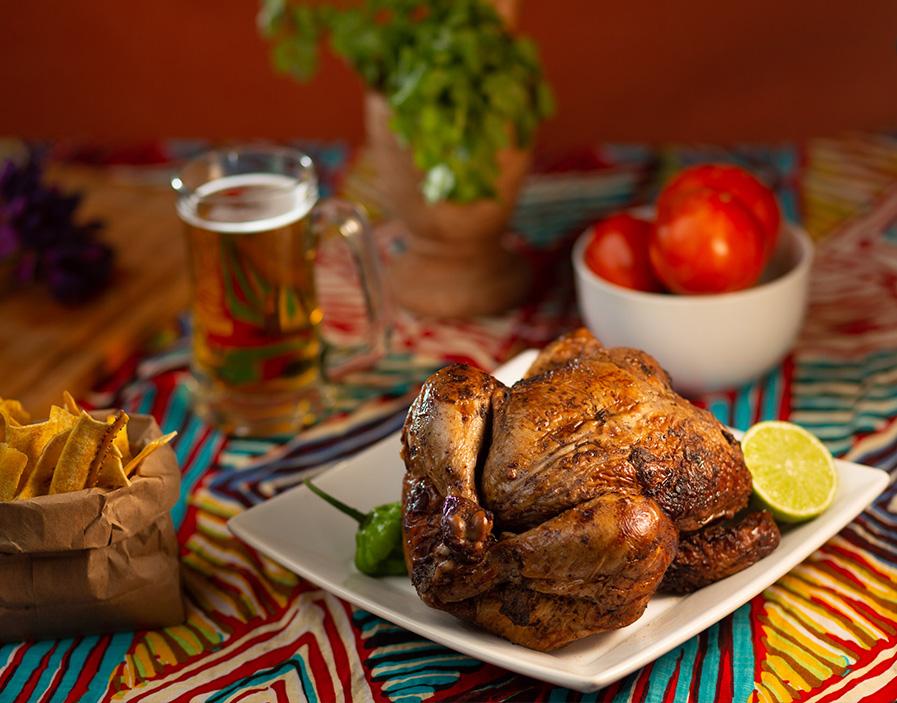 Jerk Rotisserie Chicken Nacho Bowl