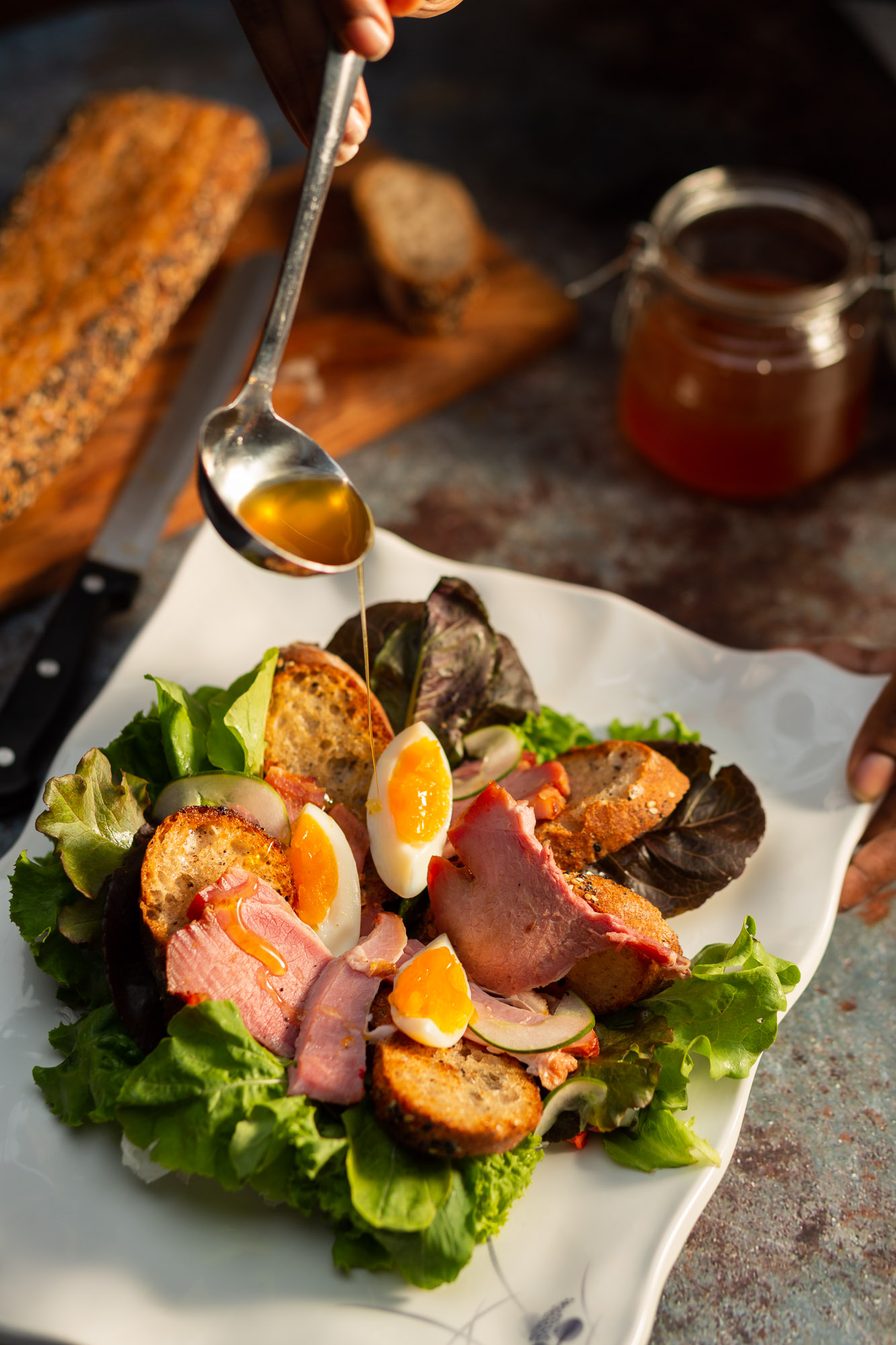 Christmas Ham and Egg Breakfast Salad