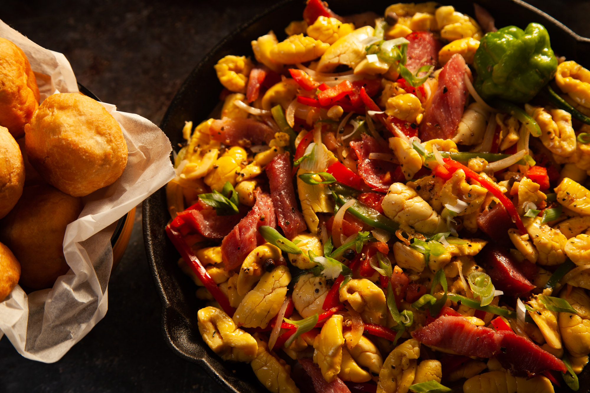 Ackee and Ham Breakfast