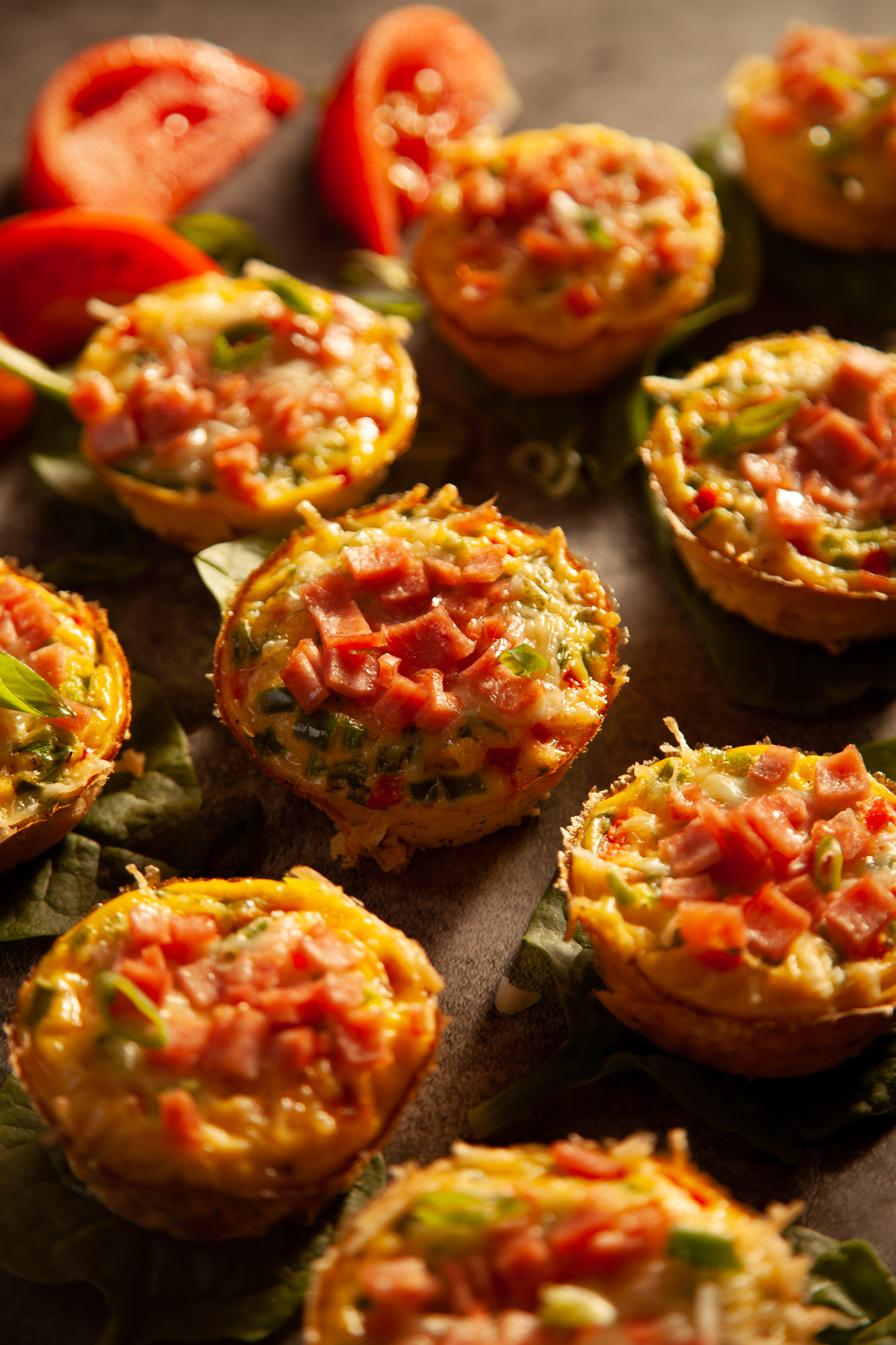 Mini Chicken Ham Frittatas
