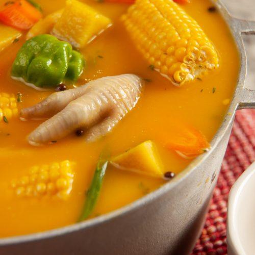 jamaican chicken foot pumpkin soup  the best dressed