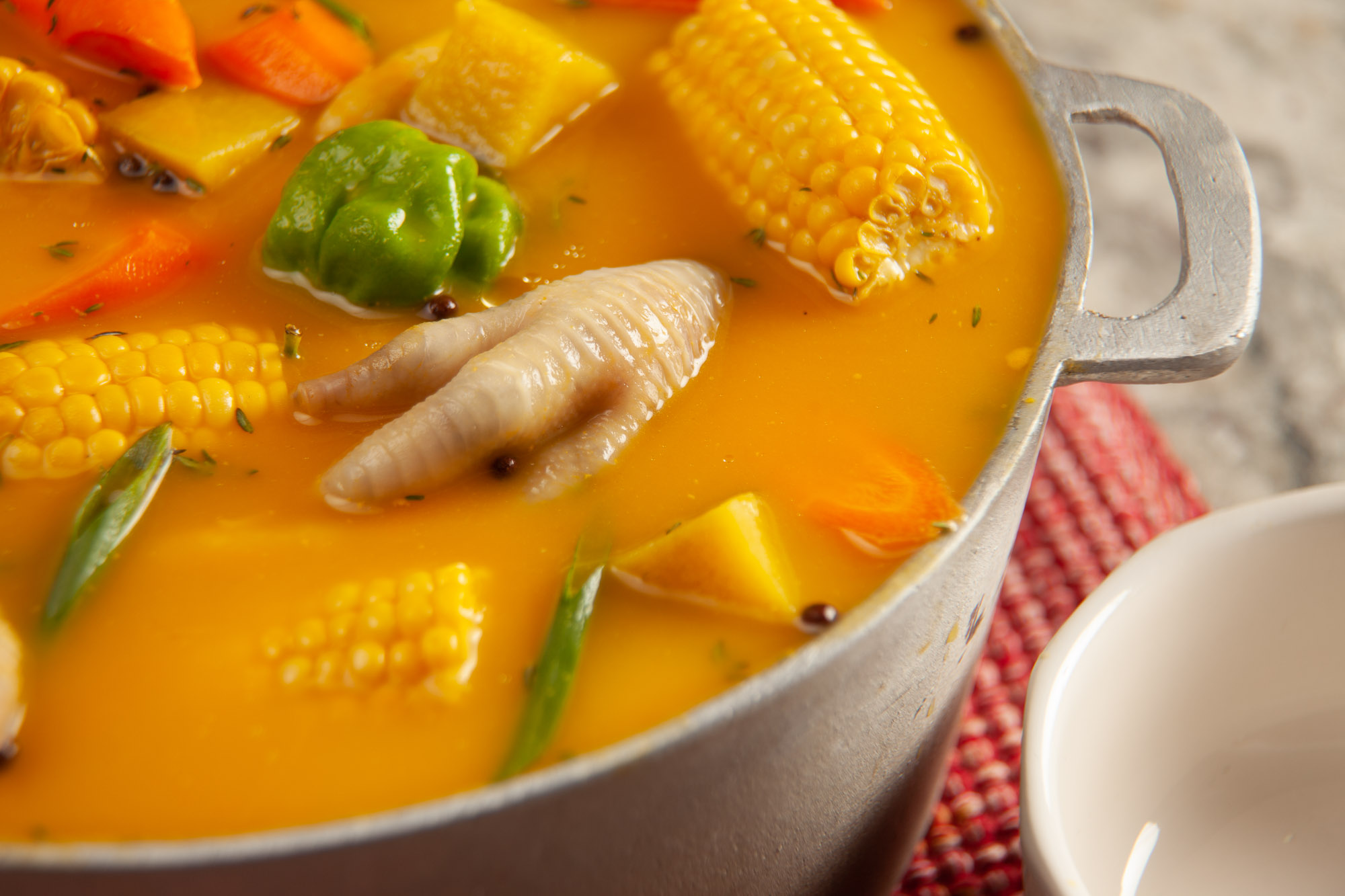 Jamaican Chicken Foot Pumpkin Soup