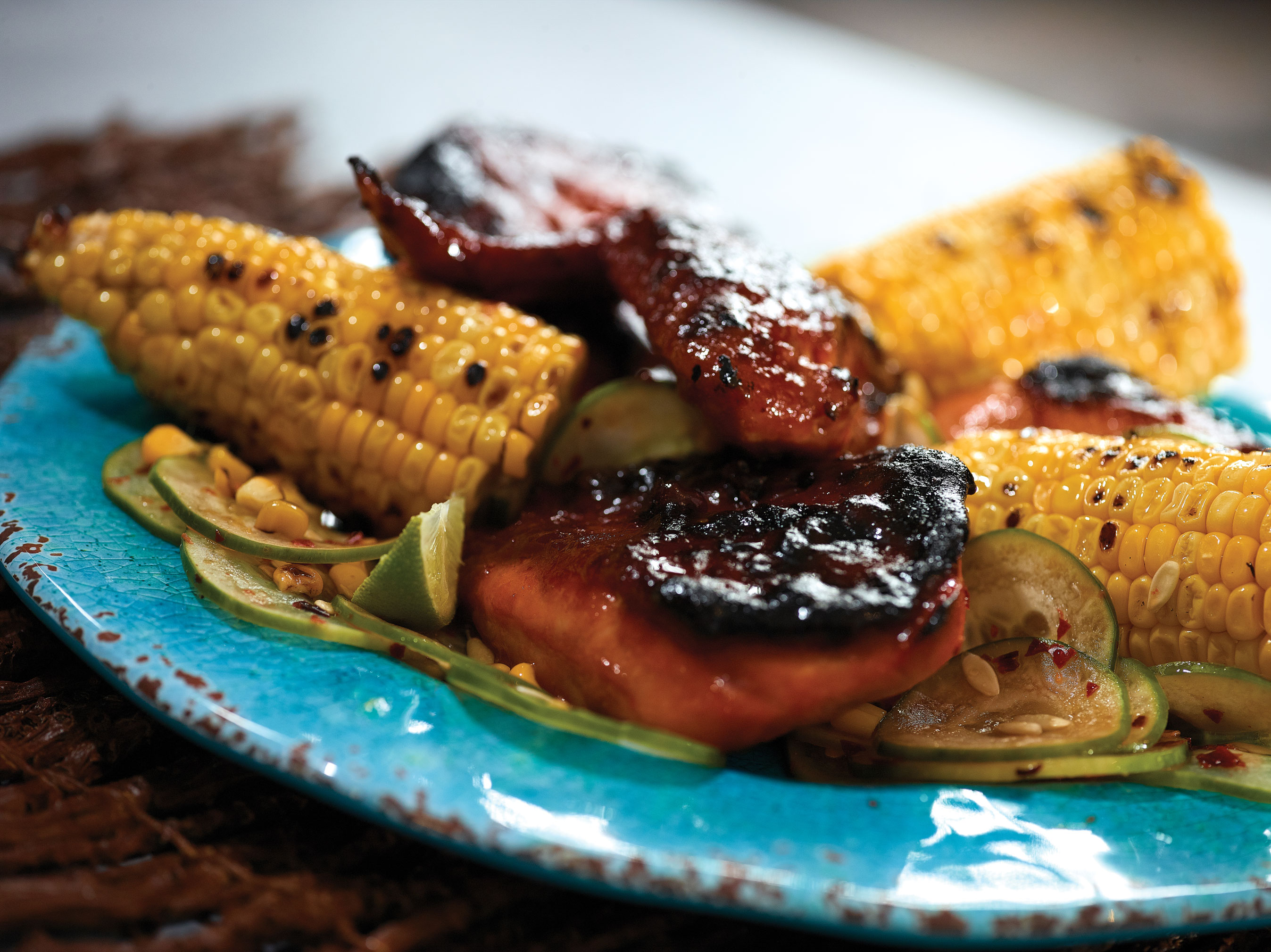 Barbeque Chicken & Grilled Corn