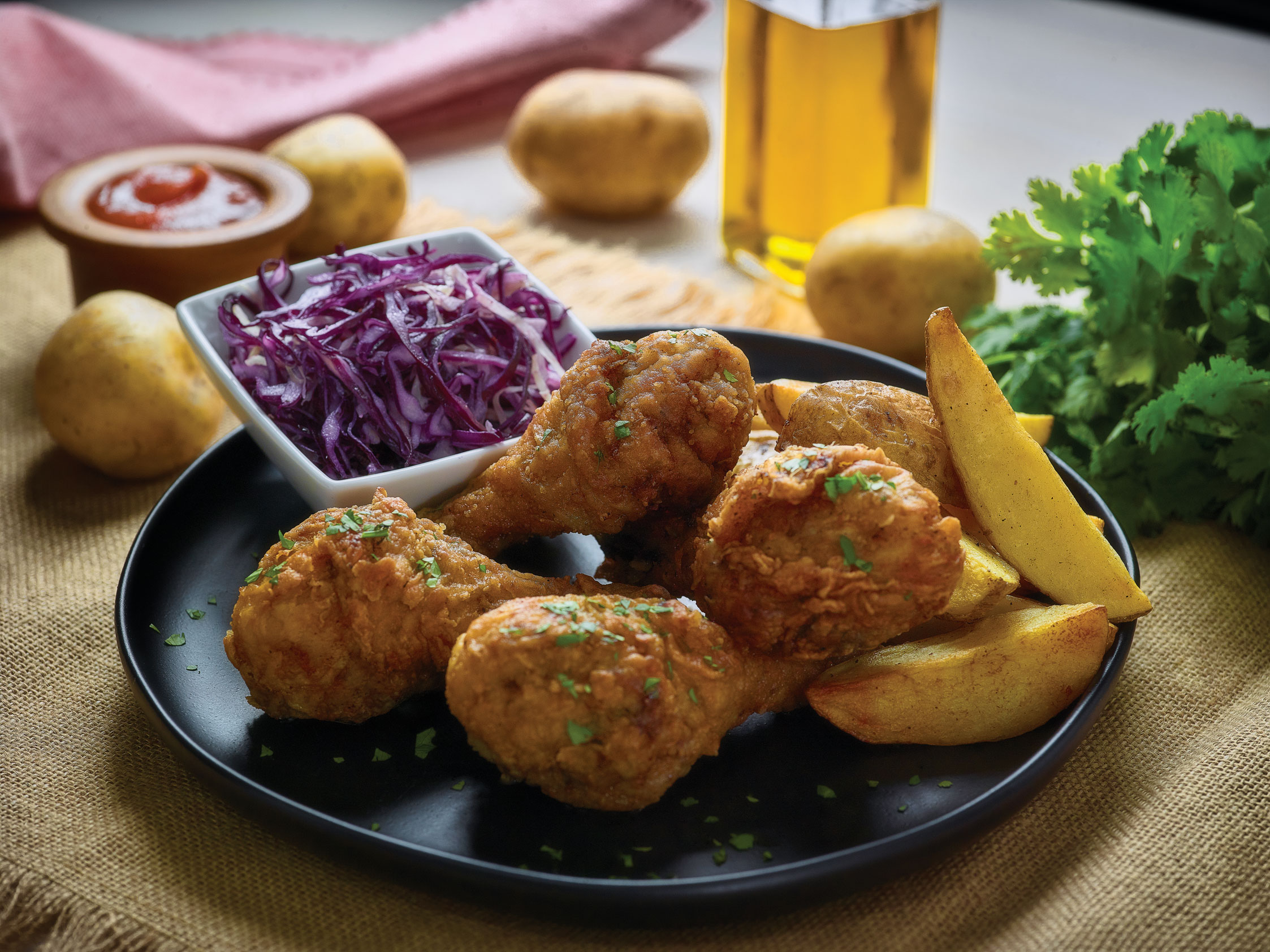 Fried Chicken & Wedges