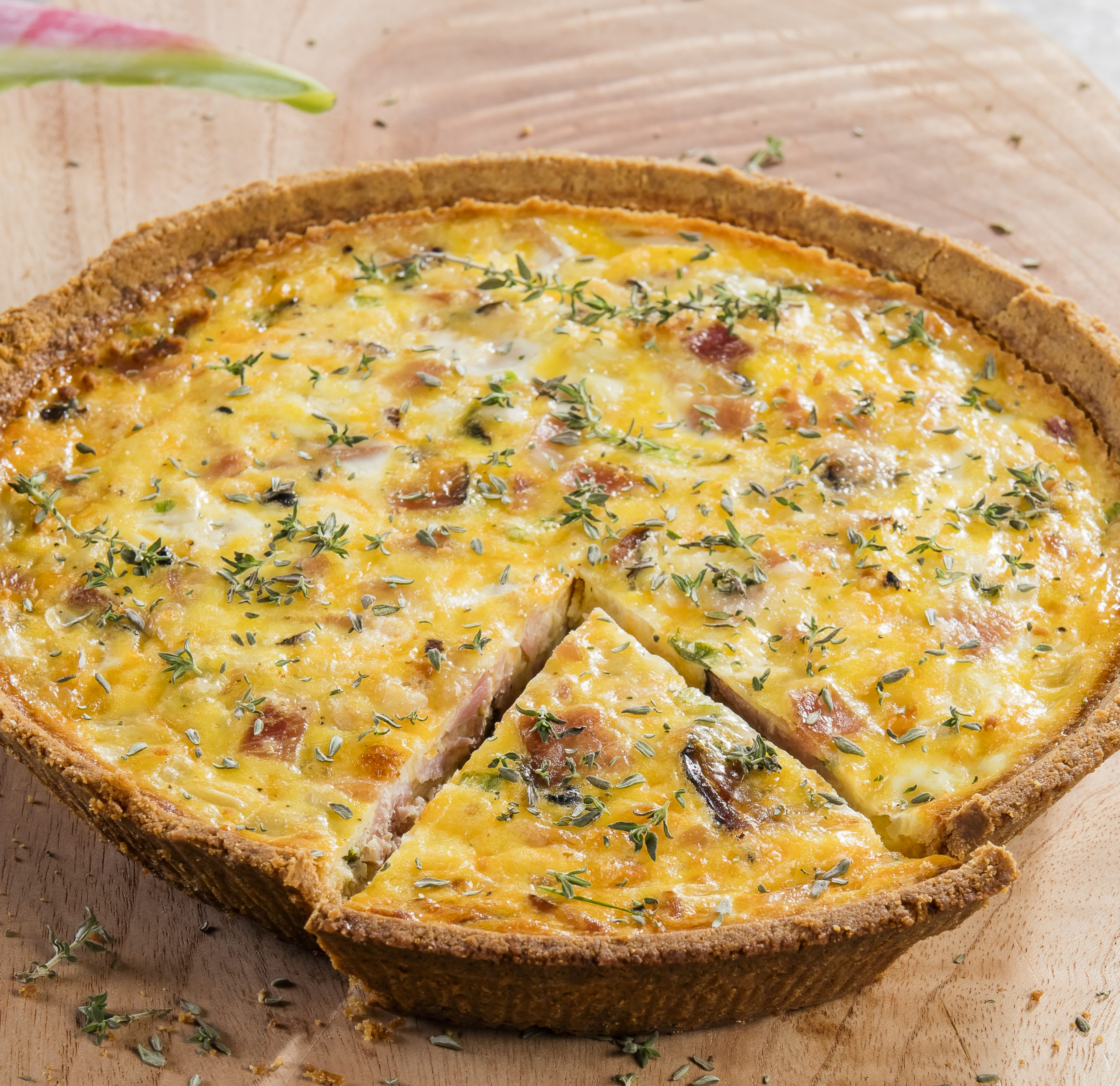 Black Forest Ham and Cheese Quiche