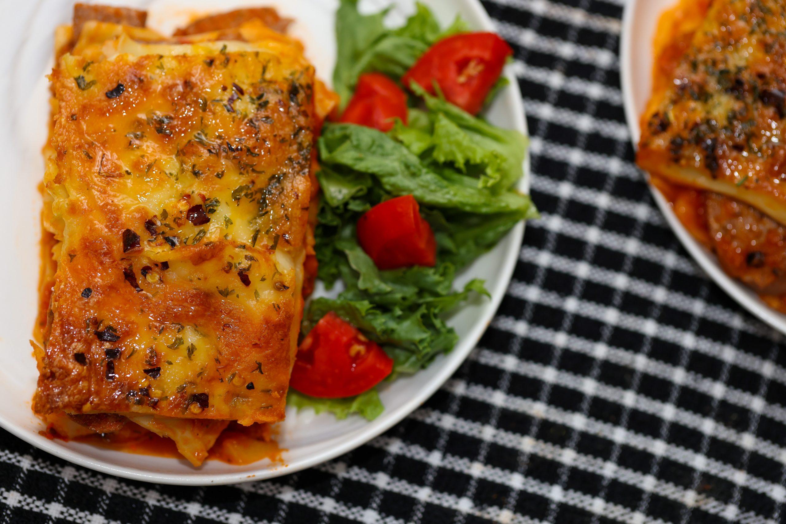 Jerk Chicken Sausage Lasagna